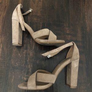 Steve Madden Shena heels, tan size 6.5